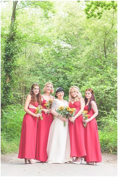 Natasha Jay Photography - Hampshire Wedding Photographer. Red Bridesmaid  Dresses ... cb5f4c2dfd1d