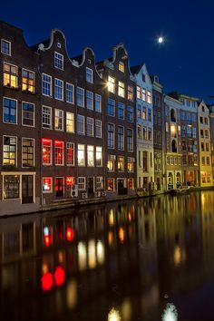 Amsterdam. Beautiful photo of buildlings along the canals. The colors are outstanding and the dynamic range was beautifully utilized.