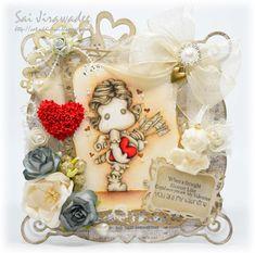 Cat-Addict Sai: Cupid Tilda Sculpture Valentine's Card