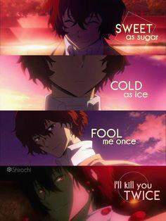 don't mess with someone who says that everythi. - , Anime Memes - My Manga Sad Anime Quotes, Manga Quotes, Funny Quotes, Funny Memes, Dog Memes, Funny Dogs, Stray Dogs Anime, Bongou Stray Dogs, John Russell