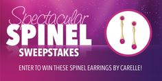 Jewelry.org is giving away a pair of beautiful 18K gold and red spinel earrings from Carelle's Stack Colleciton, valued at $1,250!