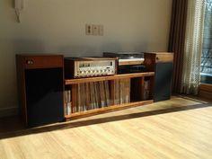 vintage hi-fi setup