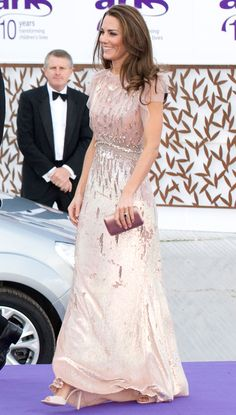 The Duchess took the public's collective breath away in a pink  Jenny Packham dress at the ARK Gala dinner at Kensington Palace.   - HarpersBAZAAR.com