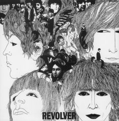 (1966) The cover illustration for Revolver was created by German-born bassist and artist Klaus Voormann, one of the Beatles' oldest friends from their days at the Star Club in Hamburg.