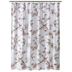 Target Threshold Shower Curtain Bird - Pink