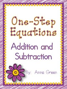 math worksheet : 1000 images about solving equations on pinterest  one step  : Solving Equations Using Addition And Subtraction Worksheets