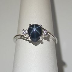 Hey, I found this really awesome Etsy listing at https://www.etsy.com/listing/118708866/genuine-23ct-blue-star-sapphire-ring