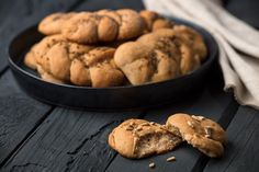 100% žitné housky z chlebové mouky - PROBIO Healthy Baking, Gluten Free, Cookies, Desserts, Food, Diet, Tailgate Desserts, Glutenfree, Biscuits