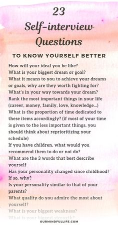 23 Thought-provoking Questions To Boost Your Self-awareness - - Do you know yourself well? Here are a list of self-awareness questions that will help to develop a profound self-understanding. Question Do you. Journal Questions, Questions To Ask, This Or That Questions, Personal Questions, Self Awareness Quotes, Therapy Journal, Journal Writing Prompts, Self Exploration, Self Care Activities