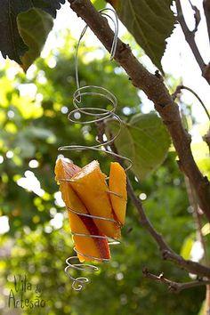 Comedouro para pássaros em arame.  #craft #diy #artesanato #facavocemesmo #jardim #birdfeeder