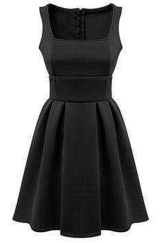 Charming PrincessSquare Neckline Mini Dress - OASAP.com