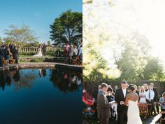 Outdoor Ceremony // Krina and Kevin's Wedding at the Chicago Botanical Garden » Two Birds Photography