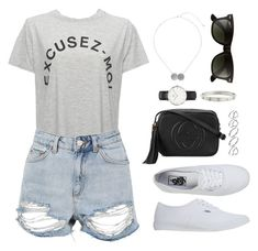 """""""Untitled #19"""" by what-zoella-wears ❤ liked on Polyvore featuring Whistles, Topshop, ASOS, Vans, Daniel Wellington, Cartier, Gucci, Miss Selfridge and Ray-Ban"""
