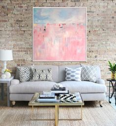 Pink Abstract Print, Giclee Print,  Abstract Painting, Modern Art , Fine Art Print, Contemporary Art, Abstract Landscape by Artzaro on Etsy https://www.etsy.com/listing/230394575/pink-abstract-print-giclee-print