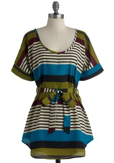 Medium Format Memory Tunic in Stripes. When you received your first instant camera, you were hooked in a snap - and your collection of equipment has only grown in your years of exploring. #multi #modcloth