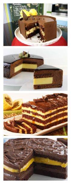 Torta de chocolate con crema de maracuyá guarda este pin Hornear en horno , precalentado a 180 ° C durante 40 minutos o hasta que un palillo de dientes que pega falda seco. Retire del horno, deje enfriar y desenrollar # Pastel # tarta #cumpleaños#dulce#postre#pudín#mousse#cheesecake#chocolate#sanvalentin#love#receta#confitería