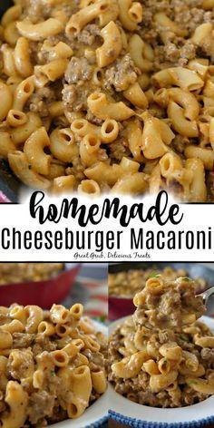 Homemade Cheeseburger Macaroni is a delicious copycat cheeseburger macaroni recipe, loaded with hamburger, cheese and macaroni. Homemade Cheeseburger Macaroni is a delicious copycat cheeseburger macaroni recipe, loaded with hamburger, cheese and macaroni. Beef Dishes, Pasta Dishes, Homemade Cheeseburgers, Vegetarian Recipes, Cooking Recipes, Healthy Recipes, Meal Recipes, Healthy Soup, Healthy Chicken