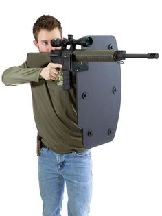 Best ballistic shield for rifle protection. Airsoft, Survival Weapons, Survival Gear, Tactical Survival, Apocalypse Survival, Tac Gear, Cool Gear, Body Armor, Guns And Ammo