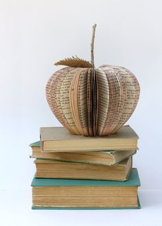 Made These 4 Teacher's Gifts a Couple of Years Ago - They Were a Hit - Vintage Book Apple