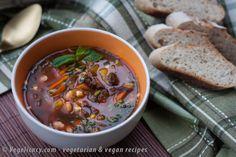 Sensationally delicious white bean, prune and mint #vegan soup