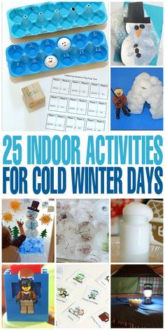 25 Winter Activities with Ice and Snow to help kids keep busy with a unique medium found only in the winter months - ice and snow!