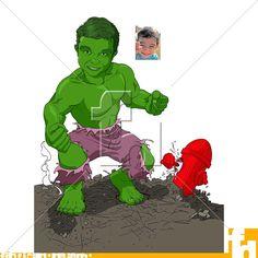 """Caricatura de aniversário com a temática do Hulk, o pequeno """"Bruce Banner"""" transforma-se no gigante esmeralda nessa caricatura exclusiva para sua festa. Hulk esmaga! Gostou da ideia? Encomende a sua caricatura em fabricadodesenho@gmail.com. #caricatura #aniversario #festadeaniversario #festainfantil #hulk #vingadores #festa #birthday #desenho #drawing #caricature #incrediblehulk #marvel #avengers #caricaturadeaniversario"""