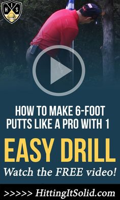 Learn how to make 6-Foot Putts Like A Pro With 1 Easy Putting Drill Any Golfer Can Master. Make those must make par putts with this simple golf drill. #golfputtingtips #holemoreputts #sinkmoreputts