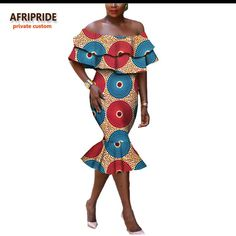 Special Use: Traditional Clothing Item Type: Africa Clothing Gender: Women Model Number: A722581 Material: Cotton Brand Name: AFRIPRIDE Type: Kanga Clothing Color: 14 Material: 100% Cotton Length: Mid-Calf Sleeve: Off-shoulder Neck: Strapless Private Custom: Yes Pattern: Print Fabric: Wax,Batik Lining: No Season: Autumn