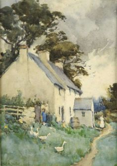 ۩۩ Painting the Town ۩۩ city, town, village house art - Mildred Butler