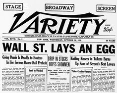 What happened after the stock market crash in 1929?