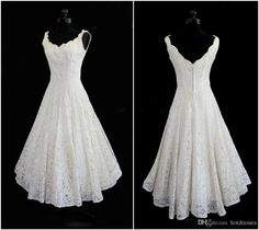 Vintage Wedding Dresses Cheap Plus Size 2015 New Simple Scoop Neck A Line Tea Length Short Beach Lace Wedding Dress Elegant Bridal Gowns Cheap Price Taffeta Wedding Dresses From Hotdresses, $73.3| Dhgate.Com