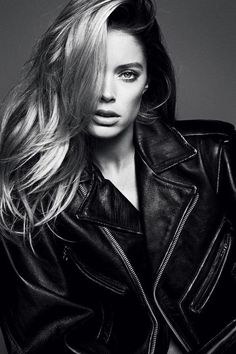 photography beauty Black and White fashion style Model edit doutzen kroes editorial siren bnw doutzen