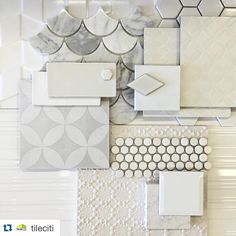 Classic || White on White || Fish scale tile