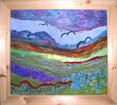 Isn't this needle felted landscape stunning?