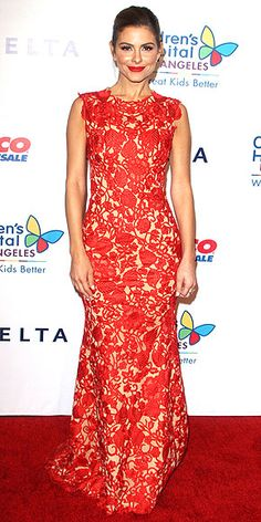 Last Night's Look: Love It or Leave It?   MARIA MENOUNOS   The best accessory for a statement-making red gown like the Oliver Tolentino Couture embroidered mermaid number that Maria wears to the Children's Hospital L.A. gala? An equally statement-making red lip.