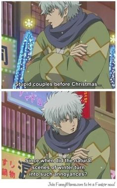 Stupid Couples before Christmas… – Gintama Manga Anime, Gintama Funny, Silver Samurai, Gekkan Shoujo Nozaki Kun, Comedy Anime, Before Christmas, Christmas Gin, Manga Games, Webtoon