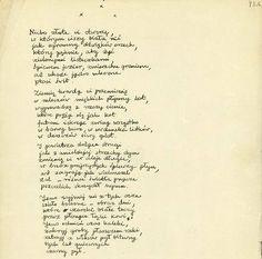 Rękopis wiersza K.K. Baczyńskiego