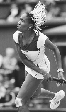 2b3d31b0761 Venus Williams plays at Wimbledon