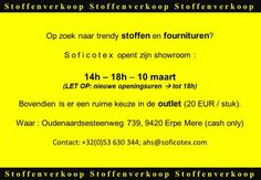Stoffenverkoop + Outlet Dameskledij -- Erpe-Mere -- 10/03
