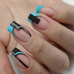 Amazing 2020 Nail Fashion Trend Ideas, Must Have Your Favorite - Page 150 of 152 - Inspiration Diary Classy Nails, Cute Nails, Pretty Nails, Square Nail Designs, Cute Nail Designs, Green Nails, Pink Nails, Nail Art Designs Videos, Geometric Nail Art