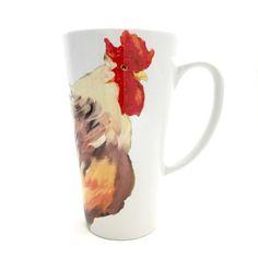 Fall Latte Mug - Rooster Coffee Mug - Chinese New Year - Big Coffee Mugs - Year of the Rooster - Best Friend Mug Set - Unique Coffee Mug
