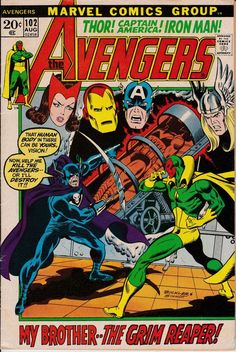 Avengers 102 August 1972 Issue  Marvel Comics  by ViewObscura
