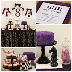 Chess Girl birthday party with free printables!