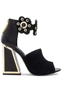 Shop for KAT MACONIE Kimmy Heel in Black & Gold at REVOLVE. Free 2-3 day shipping and returns, 30 day price match guarantee.