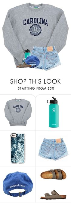 """""""HELP!! Should I upload magazine sets on this account or on my icon account?"""" by preppypuffpuff on Polyvore featuring Champion, Hydro Flask, Casetify, Vineyard Vines and Birkenstock"""
