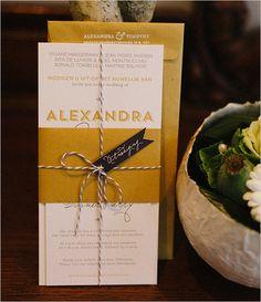 wedding invitations #bakerstwine #contemporarywedding  #weddingchicks http://www.weddingchicks.com/2014/01/03/contemporary-wedding/