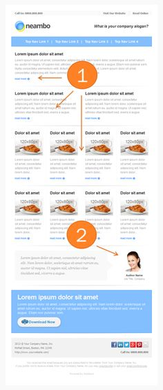 Template for Ecommerce Emails or Email Roundups