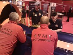 Army motorsports team chat with the REME team on Bloodhound SSC