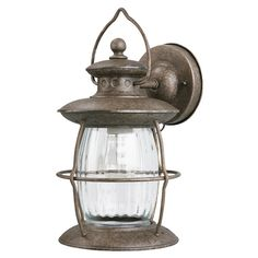 Zoomed: Portfolio Antique Pewter Outdoor Wall Light