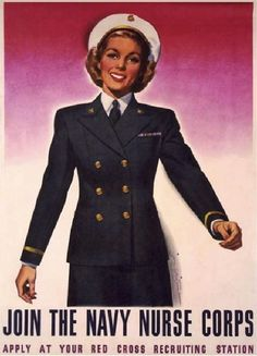 Vintage U.S. Navy Recruiting Poster: Join the Navy Nurse Corps